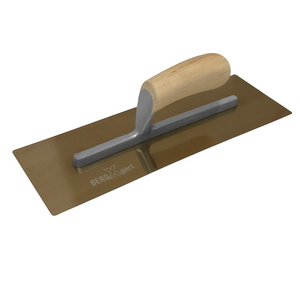 PREMIUM Curved Trowel | Golden Stainless Steel | California Camelback Wood Handle