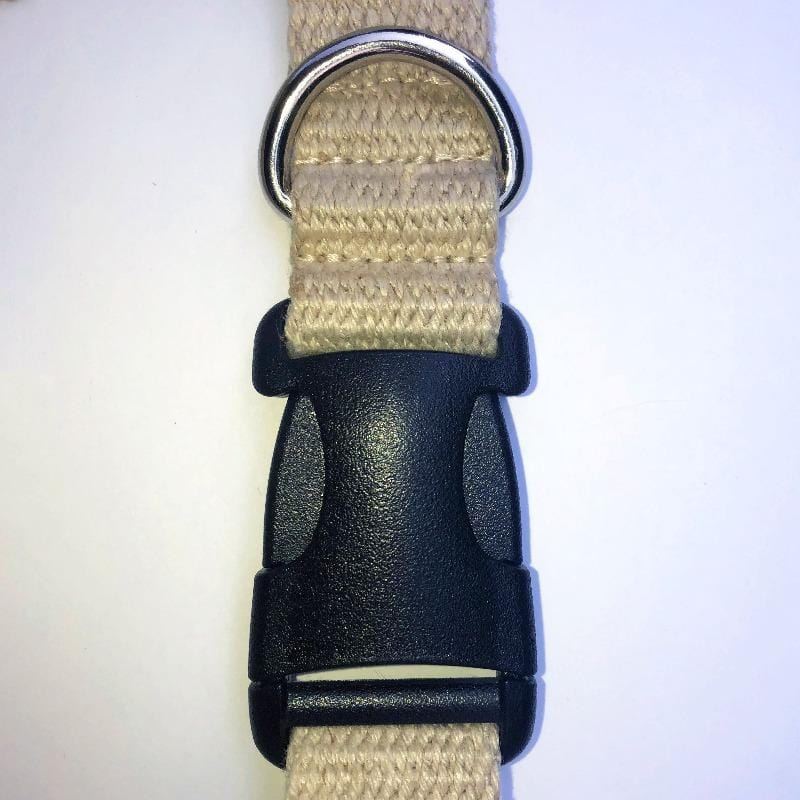 YKK Patent Pending Buckle Hemp Dog Collar Strongest Most Durable