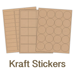 Blank Kraft Sticker Sheets