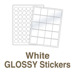 White Glossy Stickers
