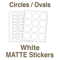 Blank White Stickers