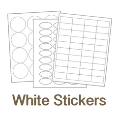 Blank White Sticker Sheets