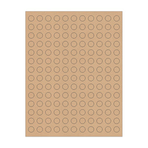 ".5"" Kraft Circle Stickers"
