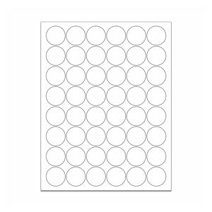 "1.25"" White Matte Circle Stickers"