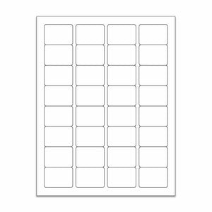 "1.25""x 1.75"" White Matte Rectangle Stickers"