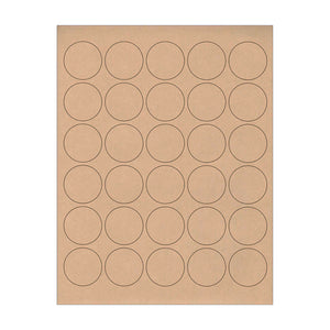 "1.5"" Kraft Circle Stickers"
