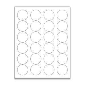 "1.625"" White Matte Circle Stickers"