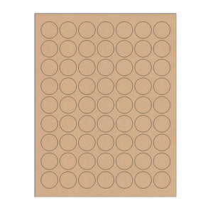 "1"" Kraft Circle Stickers"