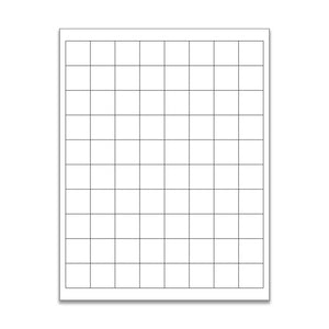 "1""x 1"" White Matte Square Stickers"