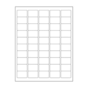 "1""x 1.5"" White Matte Rectangle Stickers"
