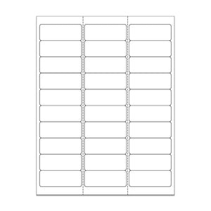 "1""x 2.625"" White Matte Rectangle Stickers"