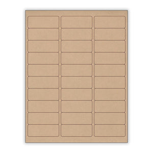 "1""x 2.625"" Kraft Rectangle Stickers"