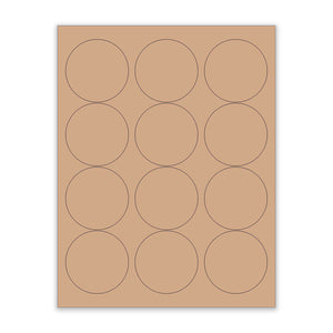"2.5"" Kraft Circle Stickers"