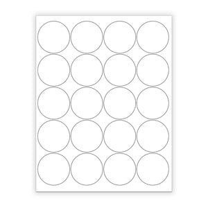 "2"" White Matte Circle Stickers"