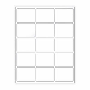 "2""x 2.75"" White Matte Rectangle Stickers"