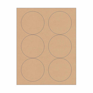 "3.33"" Kraft Circle Stickers"