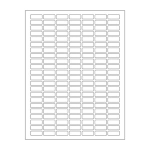".375""x 1"" White Matte Rectangle Stickers"
