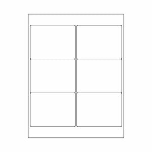 "3""x 4"" White Matte Rectangle Stickers"