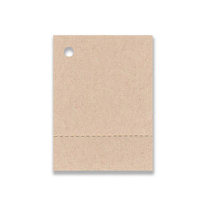 "1-1/2""x 2-1/8"" Blank Kraft Tags ~ Perforated"