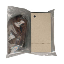 "Load image into Gallery viewer, 1-3/8""x 2-3/4"" Blank Kraft Tags~Perforated/ Dk Brown Strings"