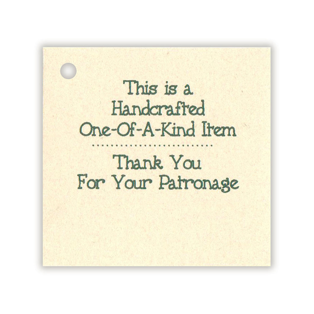 Handcrafted /Thank You Tag