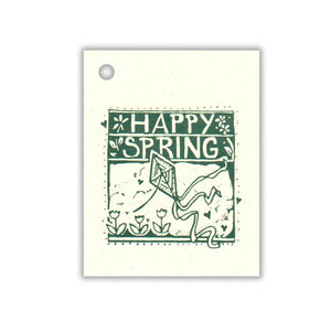 Happy Spring (Green) Tag