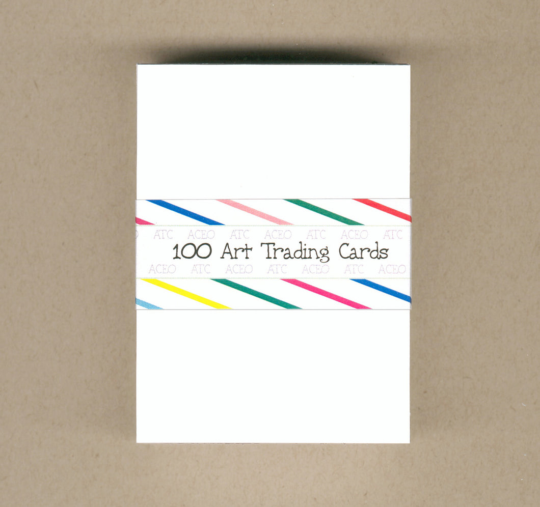 White ACEO Cards