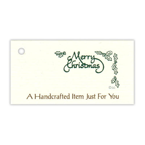 Merry Christmas Handcrafted Item Tag