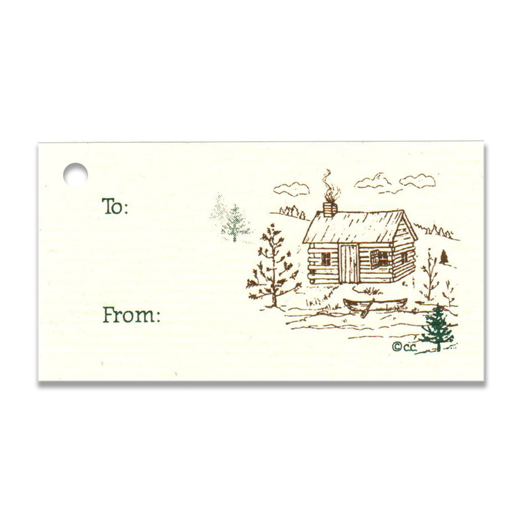 Log Cabin To: From: Gift Tag
