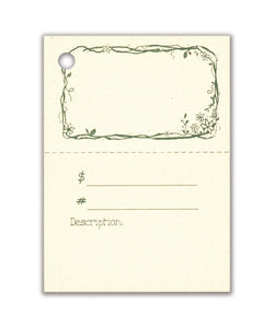 2-Part TWIGS & FLOWERS Description Tag, Perforated For Price