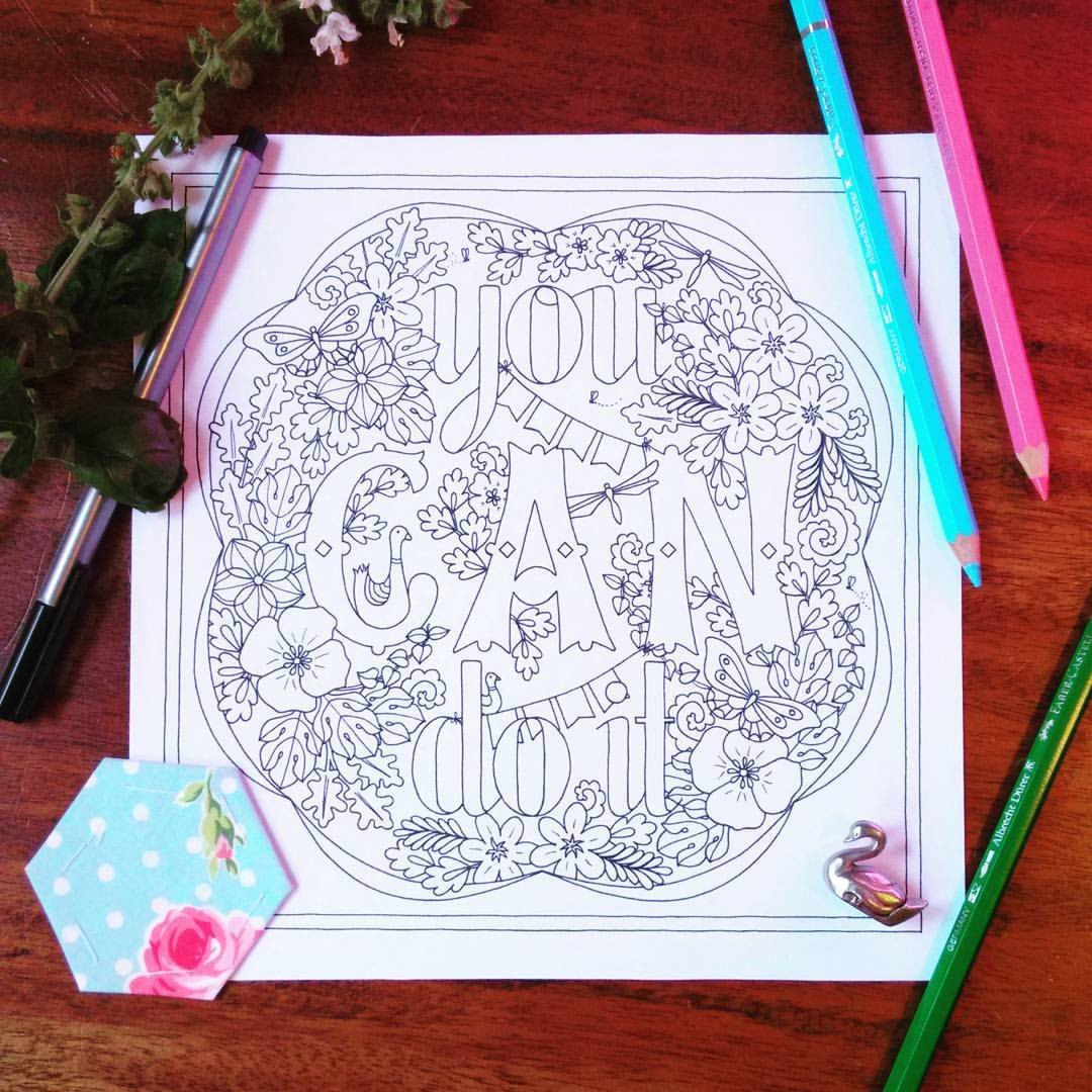 Pep Talk Collection | 7 Colouring Page Designs - Sweet Honeycomb - 4