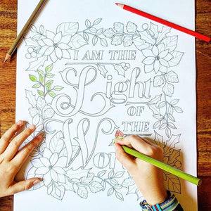 Christian colouring in pages