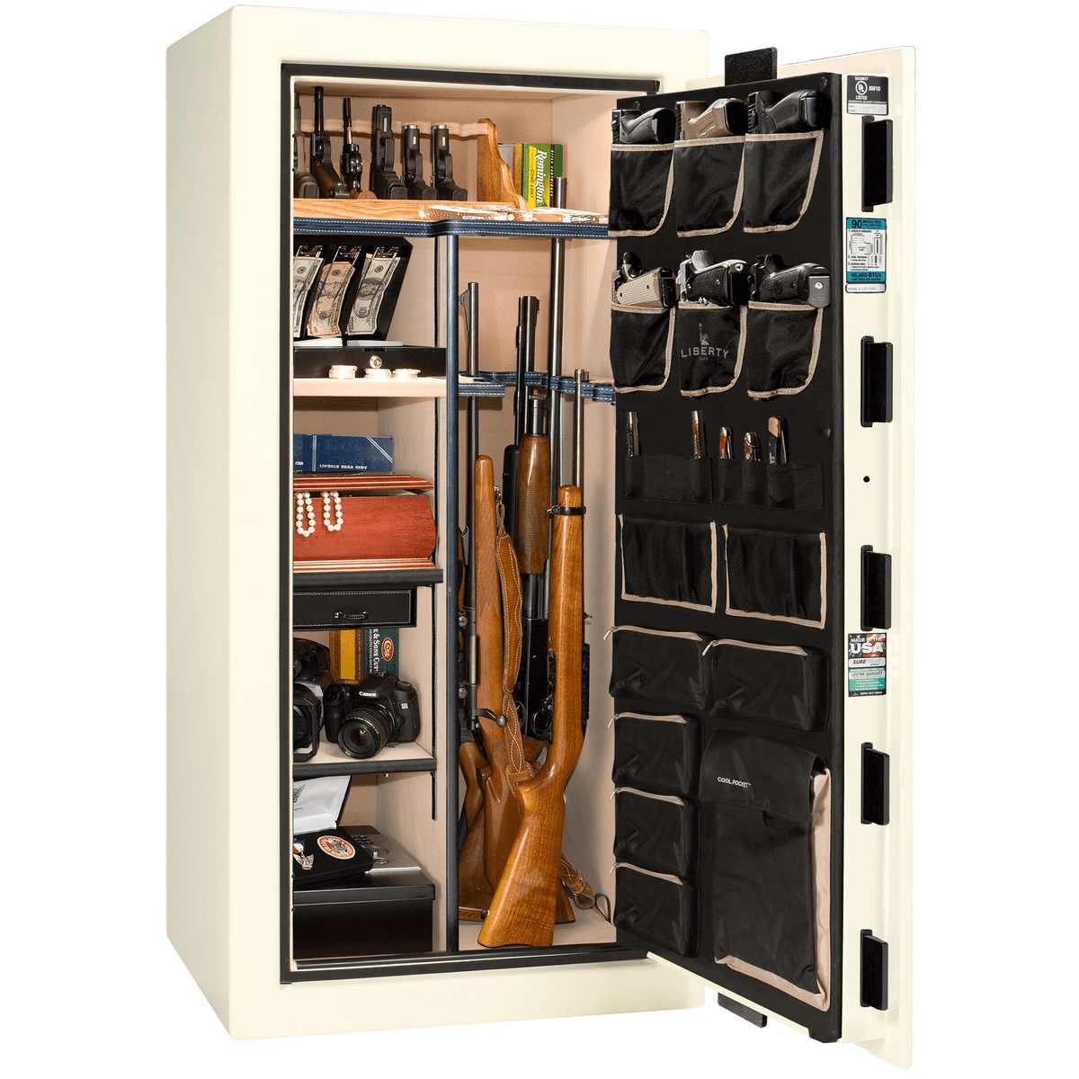 "Lincoln Series | Level 5 Security | 110 Minute Fire Protection | 40 | Dimensions: 66.5""(H) x 36""(W) x 32""(D) 