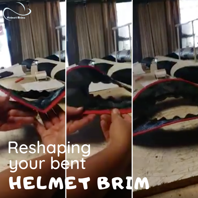 How to reshape your Helmet Brim if it's bent out of shape