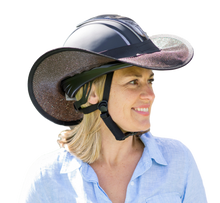 Load image into Gallery viewer, Helmet Brim Visor Black with Black trim and Black Elastic