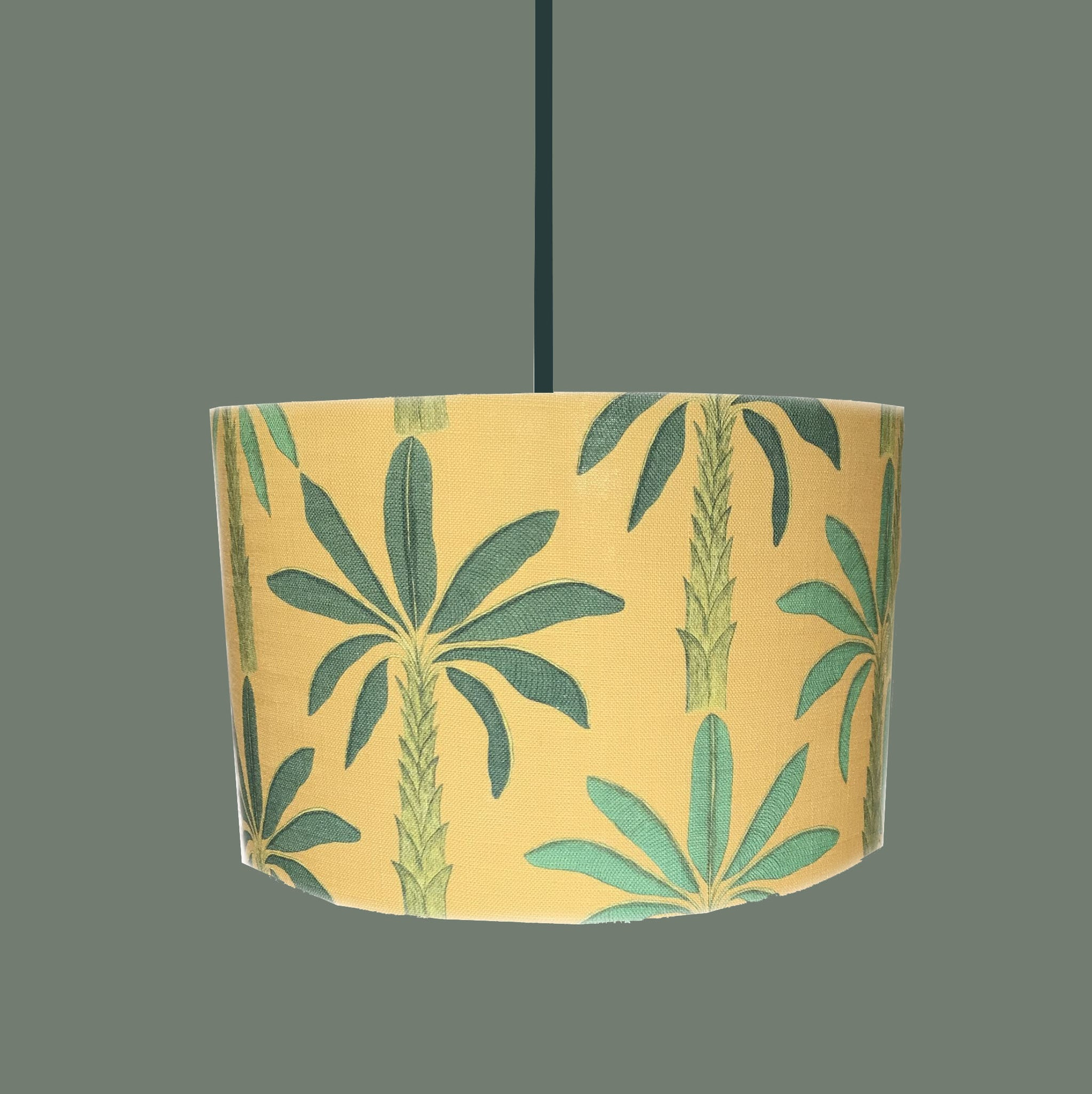 Drum Tropical Gold Yellow Lampshade