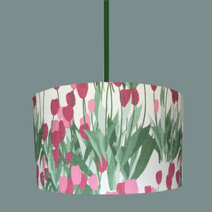 Drum In Bloom Spinel Red Lampshade