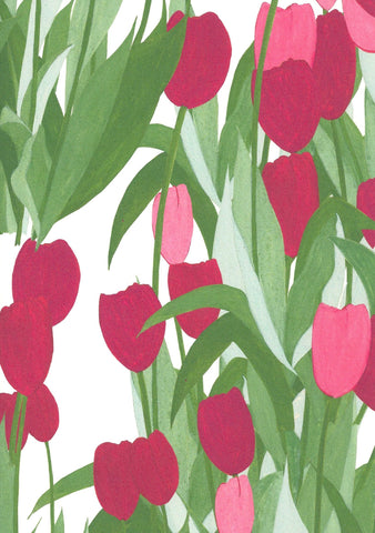 In Bloom Wallpaper sample A4 size (approx) | Colour: Spinel Red