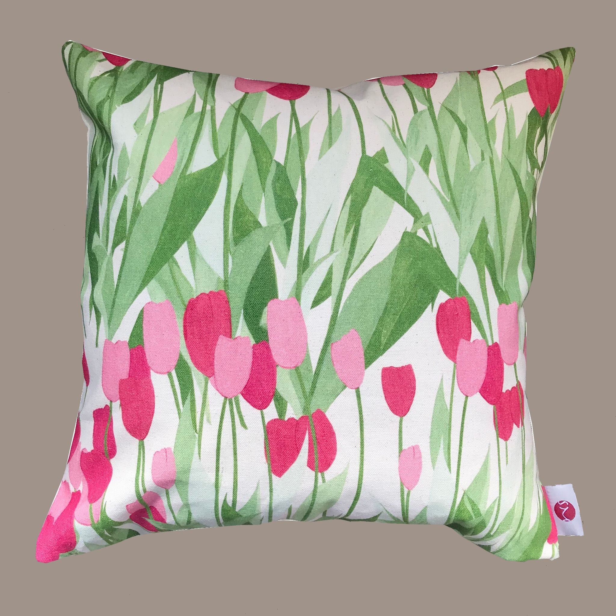 In Bloom Spinel Red cushion