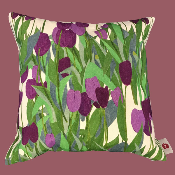 In Bloom Thistle Purple cushion