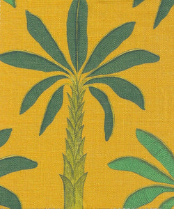 Tropical Fabric SAMPLE | Colour: Gold Yellow