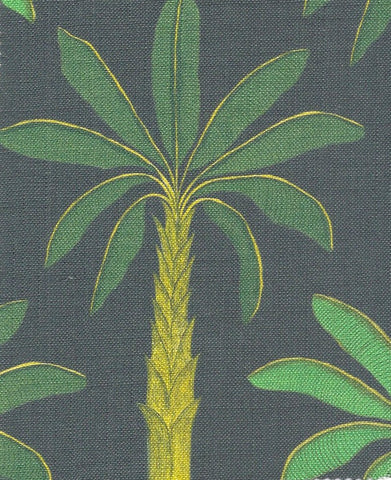Tropical Fabric SAMPLE | Colour: Carbon