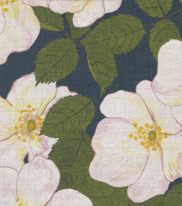 Hedgegrow Rosa Fabric SAMPLE | Colour: Indigo Blue