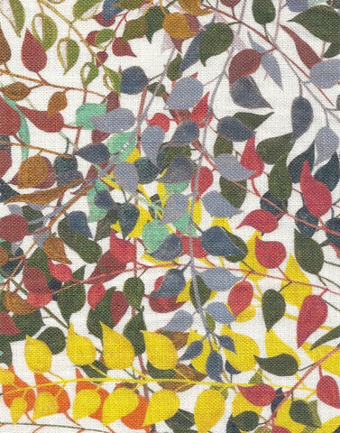 Confetti Leaves Fabric SAMPLE | Colour: Natural