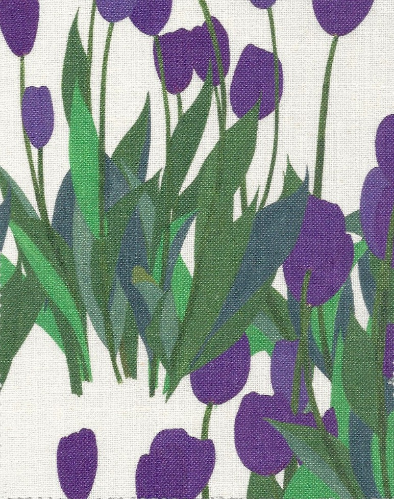 In Bloom Fabric SAMPLE | Colour: Thistle Purple