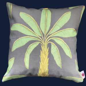 Tropical ash grey cushion