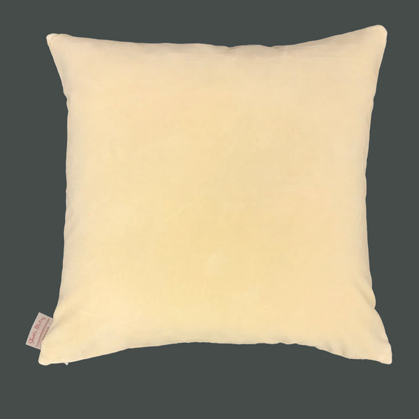 Tropical yellow cushion