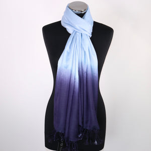 2 Toned Blue Scarf