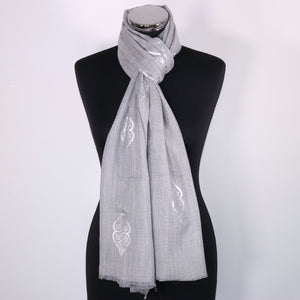 Cashmere Scarf With Abstract Foil Design