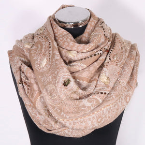 Boiled Wool Scarf Wrap